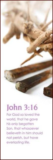 For God so Loved (3 Nails) - Bookmark (25-PKG)
