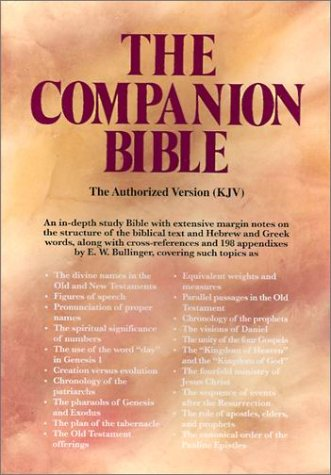 Companion Bible, Companion Bibles and books by EW Bullinger