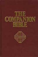 Companion Bible, Hardcover, Burgundy, Enlarged Type Indexed