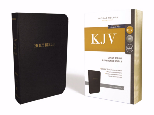 KJV Giant Print Center Column Reference Bible Bonded Leather