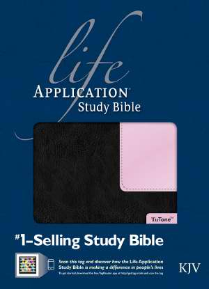 KJV Life Application Study Bible-Black/Pink TuTone