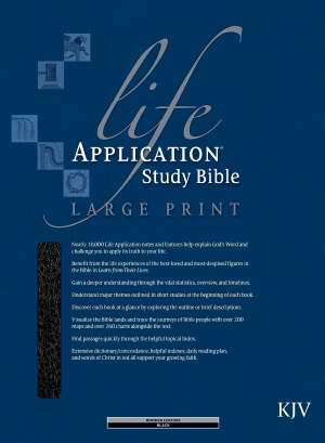 KJV Life Application Study Bible/Large Print-Black Bonded