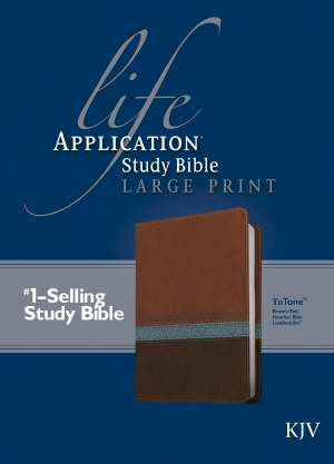 KJV Life Application Study Bible/Large Print-Brown/Tan/Blue TuTo