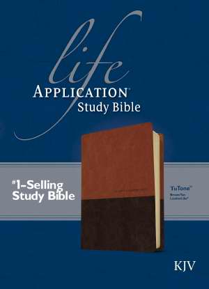 KJV Life Application Study Bible-Brown/Tan TuTone