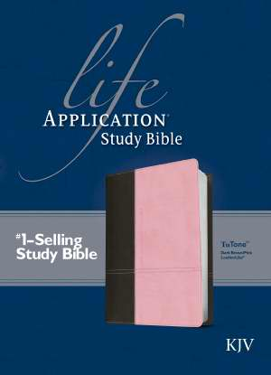 KJV Life Application Study Bible-Dark Brown/Pink TuTone