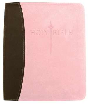 KJVer Sword Study Bible Thinline/Personal Size Chocolate/Pink Le