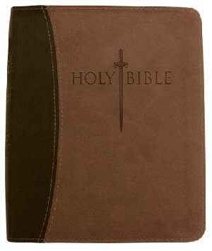 KJVer Sword Study Bible Thinline/Personal Size Dark Brown/Light