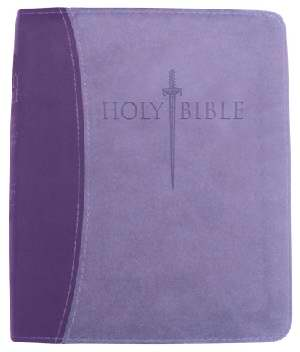 KJVer Sword Study Bible Thinline/Personal Size Dark Purple/Light