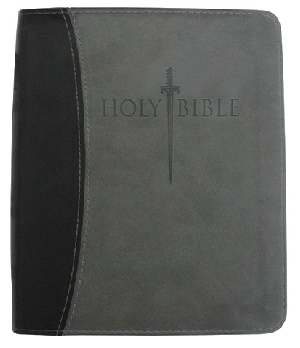 KJVer Sword Study Bible Thinline/Personal Size Black/Grey Leathe