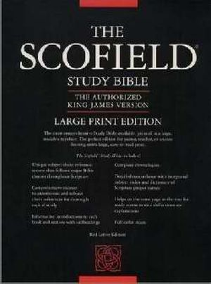 Old Scofield Large Print KJV Burgundy Genuine Leather