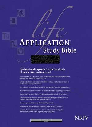 NKJV Life Application Study Bible-Black Bonded Leather