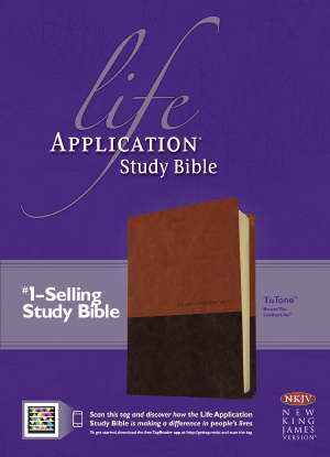 NKJV Life Application Study Bible-Brown/Tan TuTone