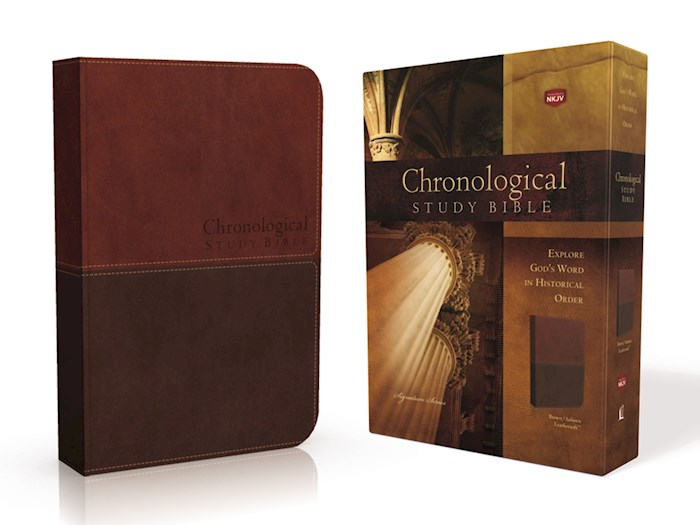 NKJV Chronological Study Bible Earth Brown/Auburn Leathersoft