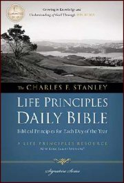 NKJV Charles Stanley Life Principles Daily Bible-Hardcover