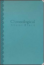 NKJV Chronological Study Bible Peacock Blue Leathersoft