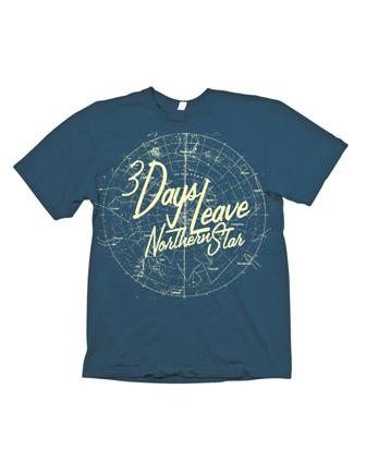 Northern Star Blue Shirt by 3 Days Leave