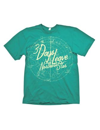 Northern Star Teal Shirt by 3 Days Leave
