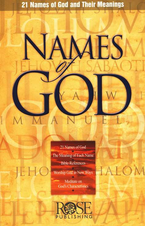 The Names of God Pamphlet (Single)
