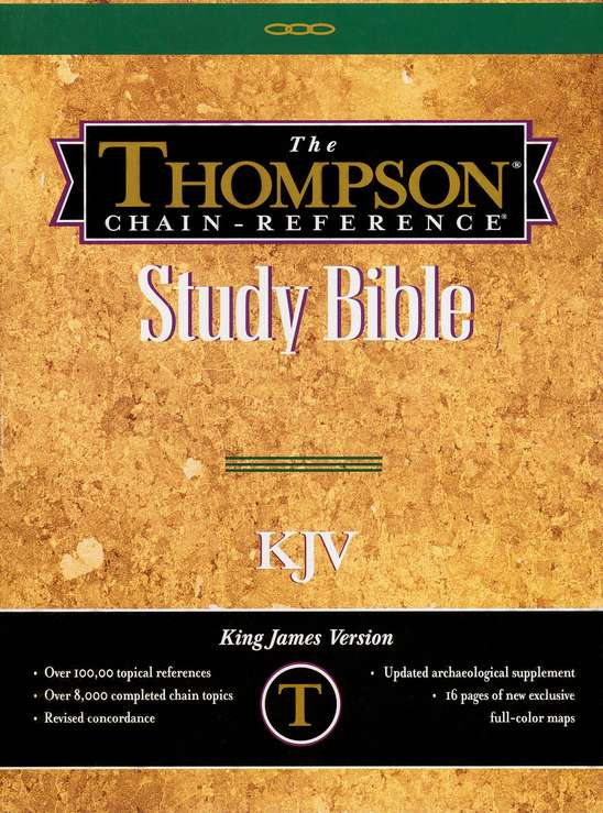 KJV Thompson Chain Reference Handy Size Black Gen. Leather Index