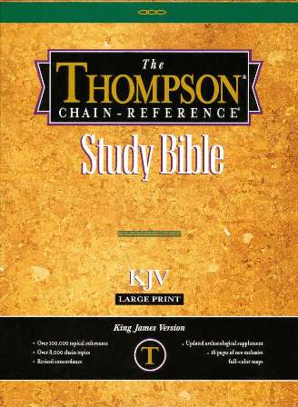 KJV Thompson Chain Reference Large Print Bonded Leather