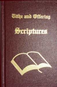 Tithe and Offering Scriptures, a book about tithes and tithing by Leon Bible